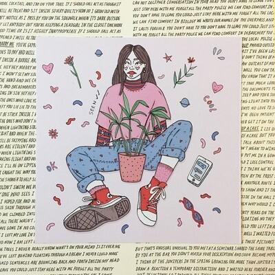 'Plant Gal' digital print