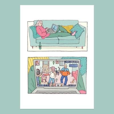'Everybody's Having Fun' A4 Print