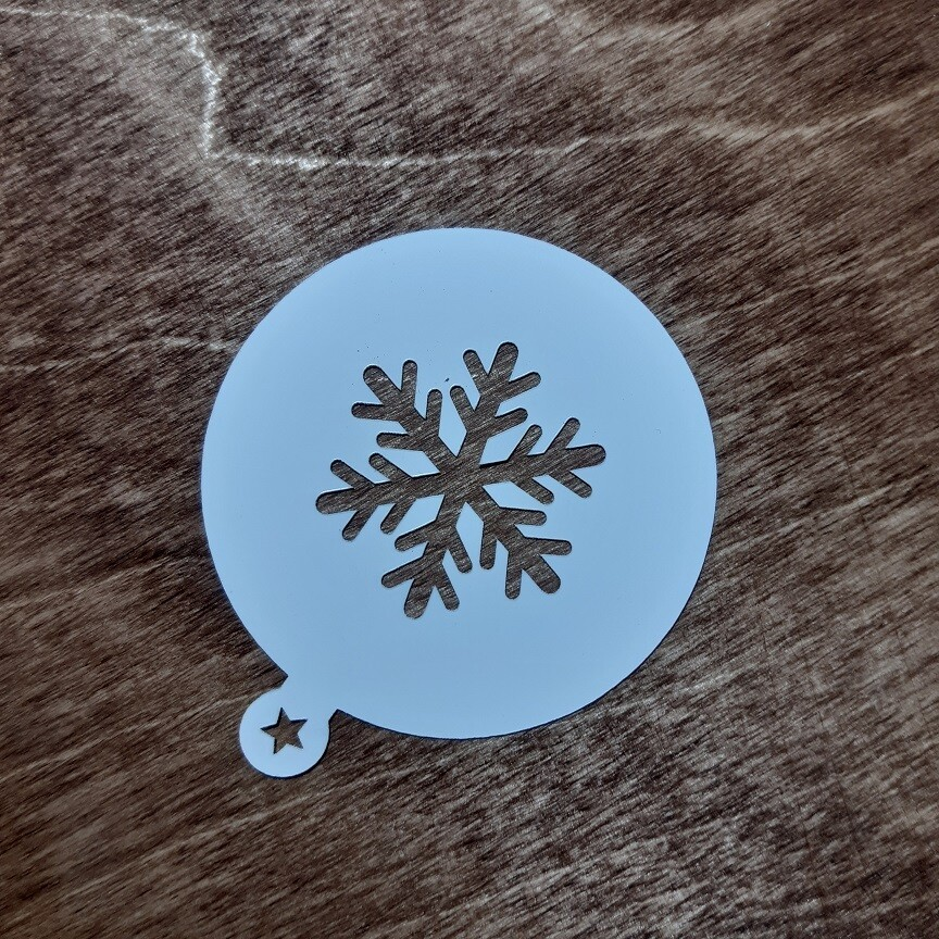 Трафарет Снежинка №1 (7 см)