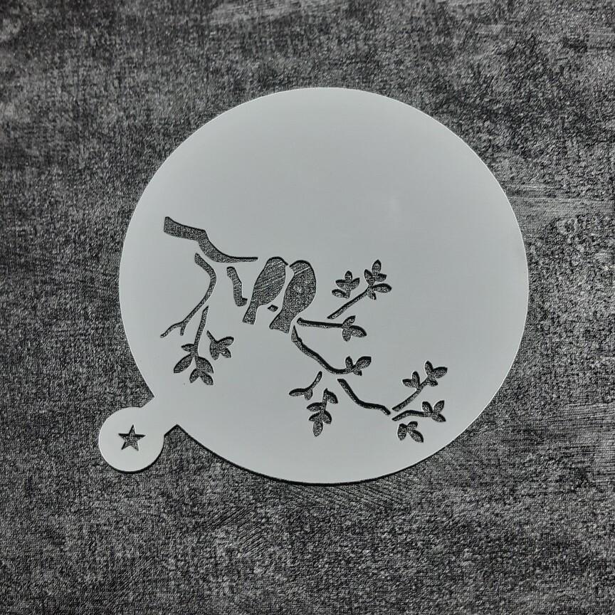 Трафарет Птицы №2 (9 см)