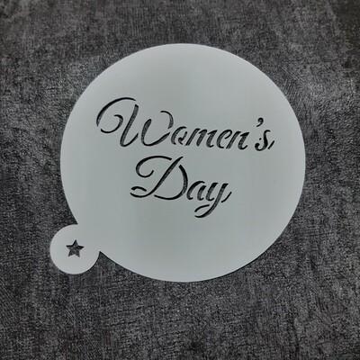 Трафарет Woman's Day 10 см