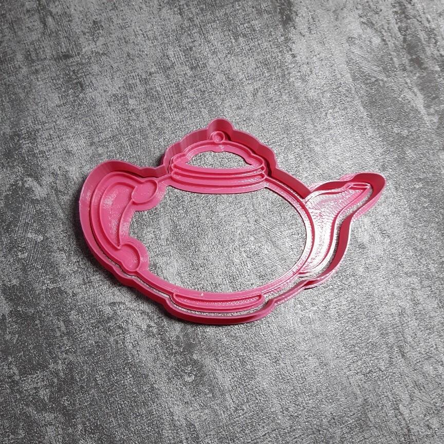 """Форма для пряника """"Чайник №1"""" (13х9 см) со штампом"""