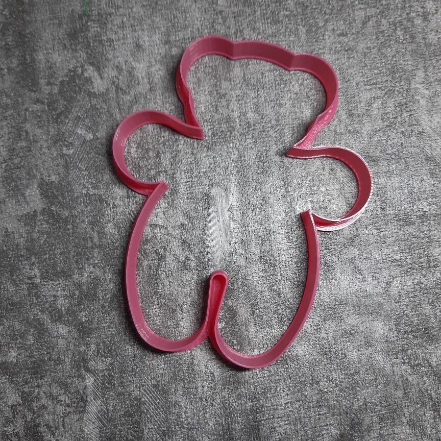 """Форма для пряника """"Мишка №1"""" (10х12 см)"""