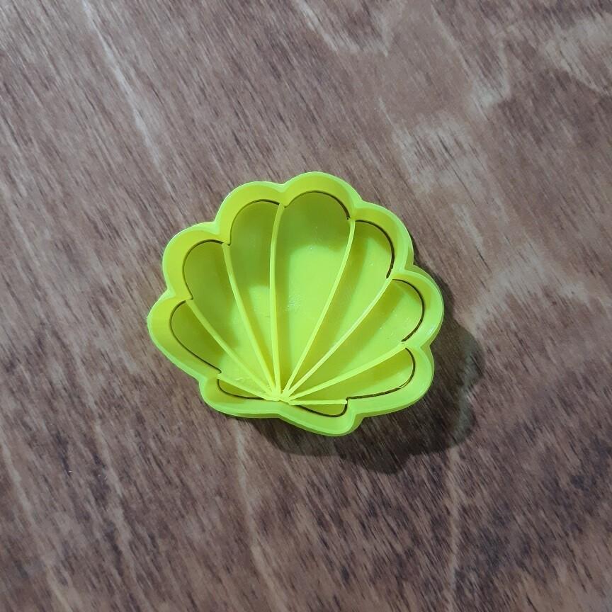 """Форма для пряника """"Ракушка №1"""" (5х4,5 см) со штампом"""