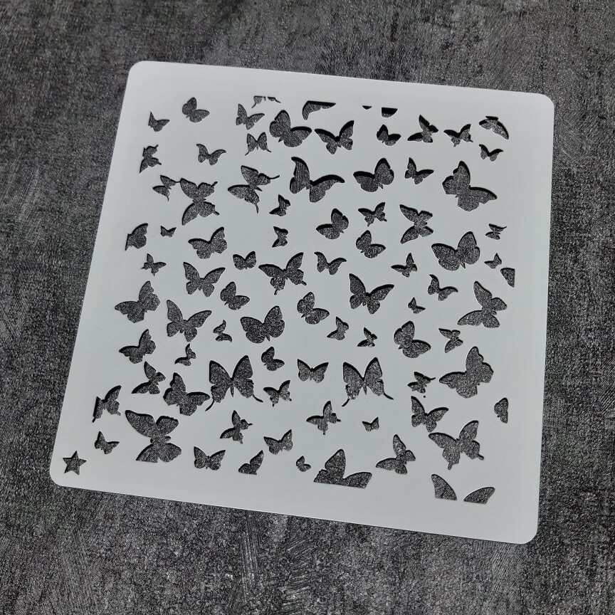 """Трафарет """"Бабочки №3"""" (14 см)"""