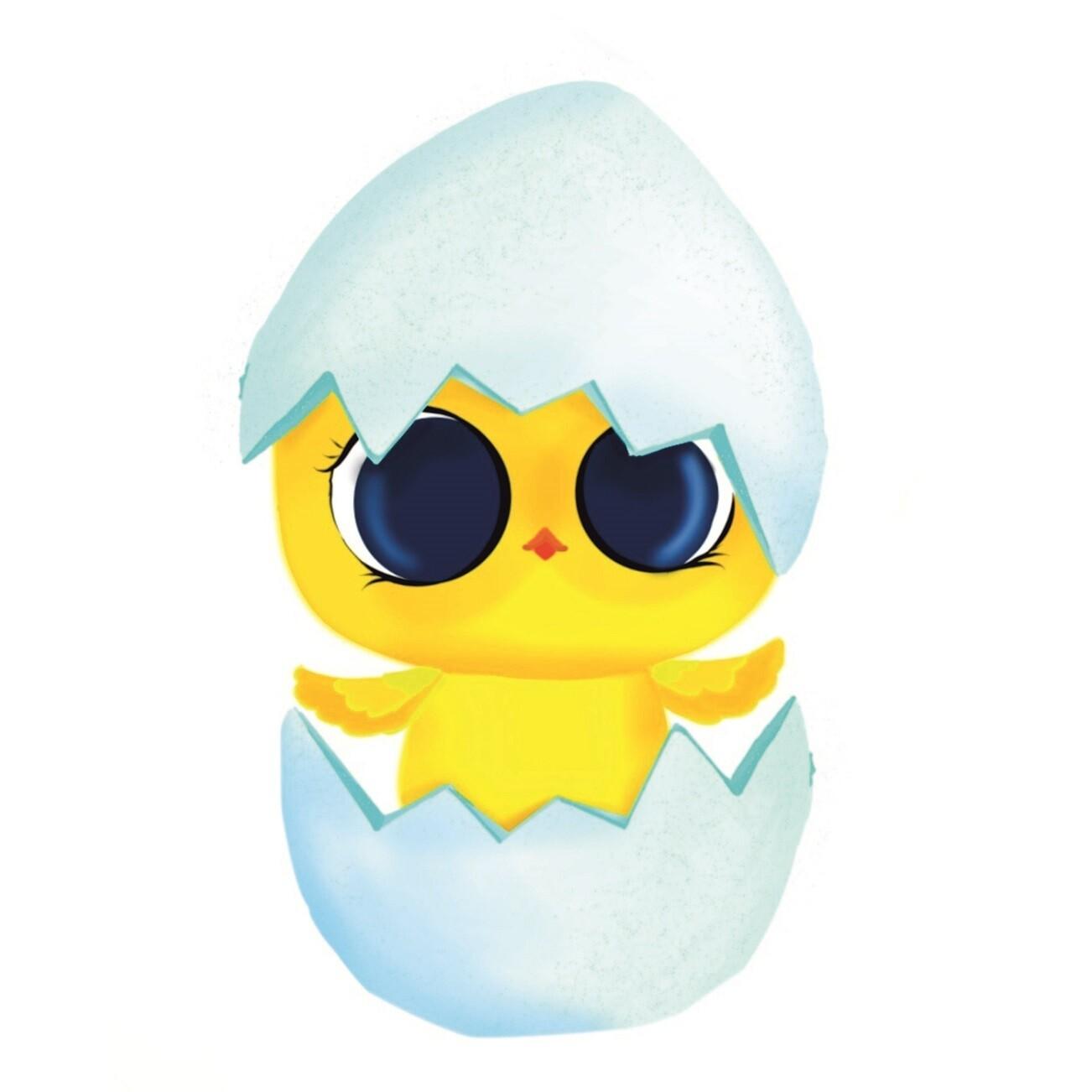 """Форма для пряника """"Цыпленок в яйце"""" (5,5х9 см) с трафаретом"""