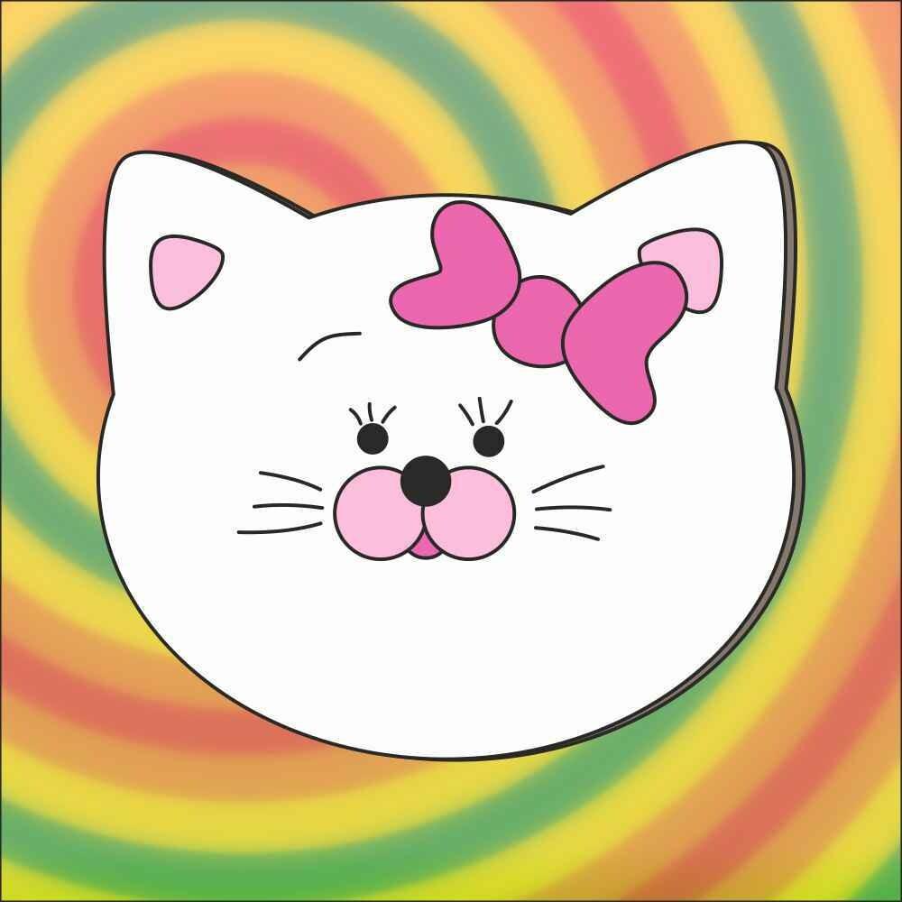 """Форма для пряника """"Кошка №2"""" (13 х 11,5 см) со штампом"""