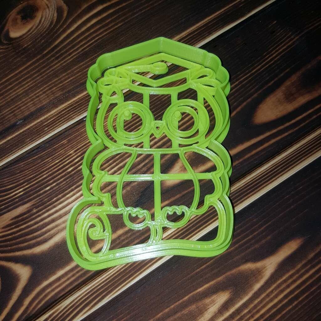 """Форма для пряника """"Сова №3"""" (7,5 х 11 см) со штампом"""