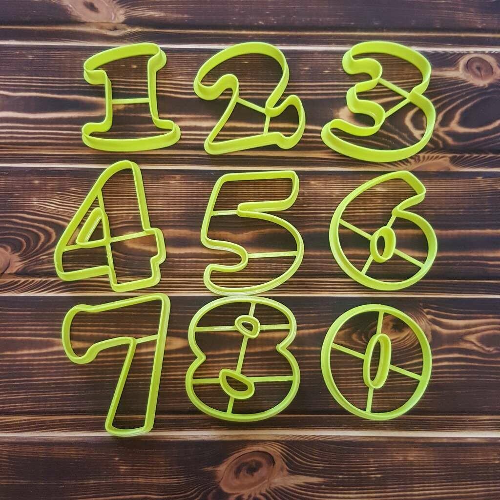 """Набор форм для пряников """"Цифры №2"""" (9-11 см)"""