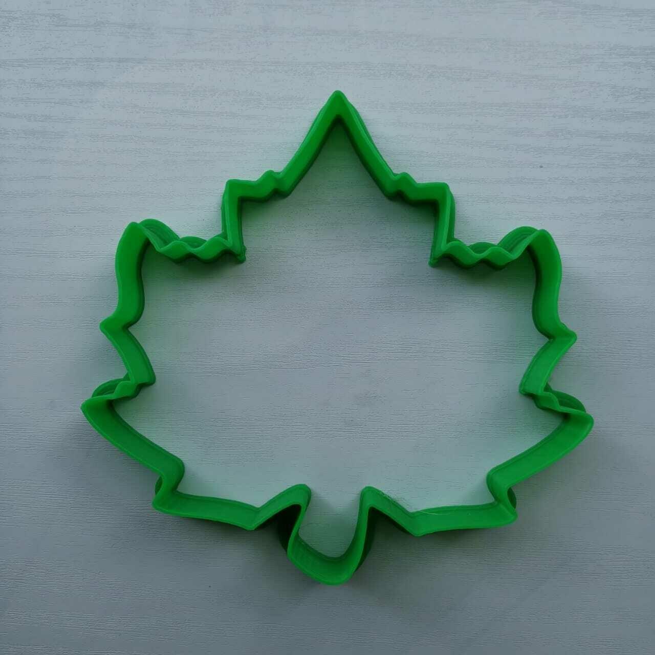 "Форма для пряника ""Кленовый лист"" №7 (10,5 х 10 см)"