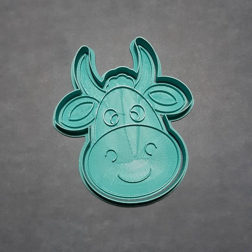 """Форма для пряника """"Корова №4"""" (9,5 х 11 см) со штампом"""