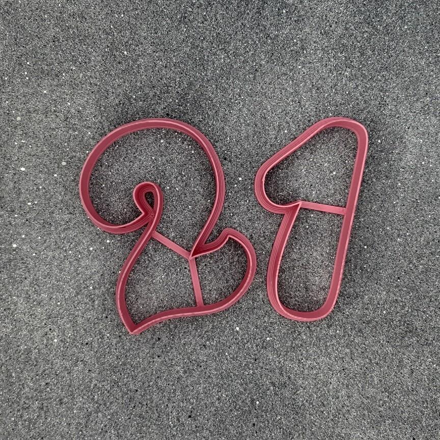"""Набор форм для пряников """"21"""" (9 см)"""