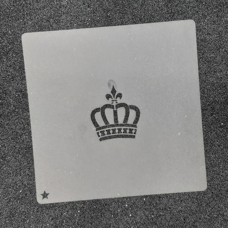 """Трафарет для пряников """"Корона №2"""" (4 х 4 см)"""