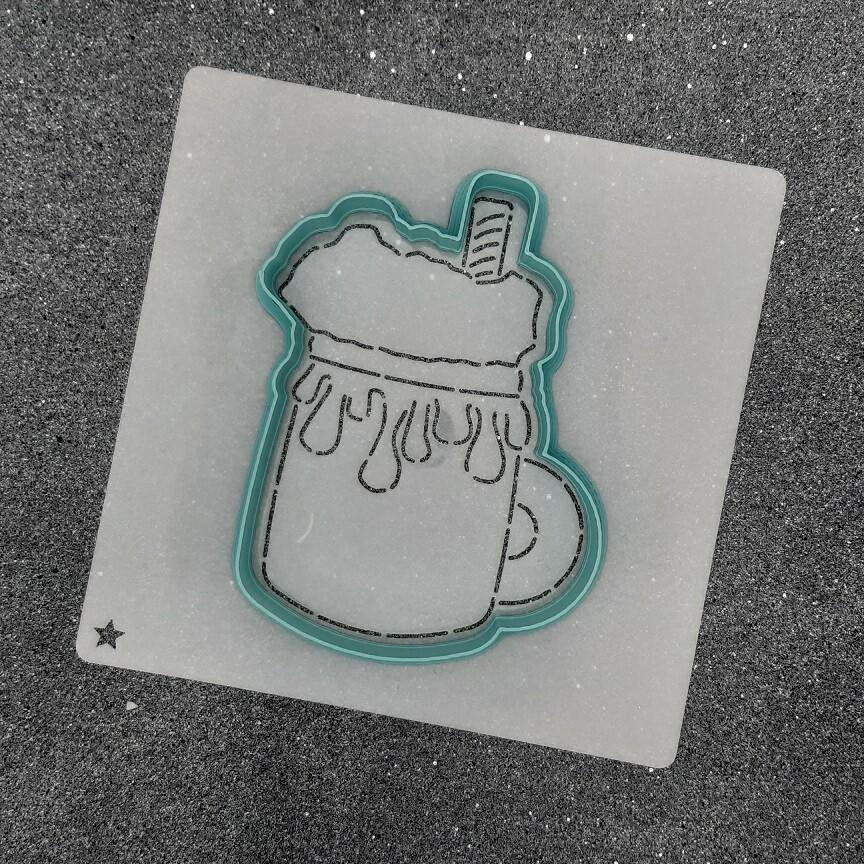 "Форма для пряника ""Кружка с шоколадом №1"" (8,5 х 11 см)"
