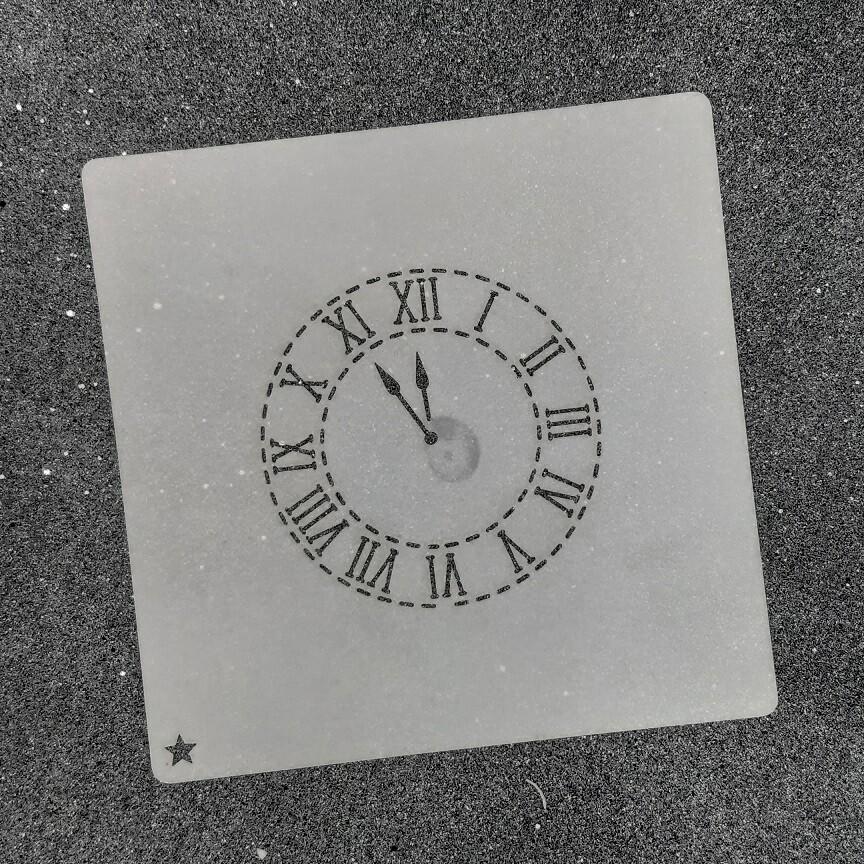 """Трафарет для пряников """"Часы №1"""" для магнитной рамки"""