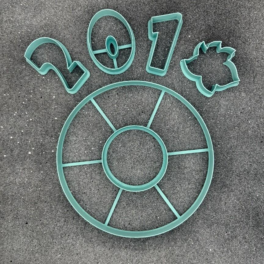 """Набор форм для пряников """"Рождественский венок №1"""" 16 см"""