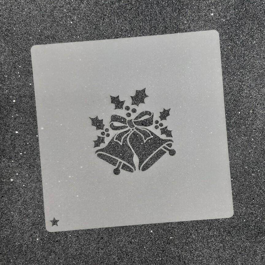 """Трафарет для пряников """"Колокольчики №2"""" для магнитной рамки"""
