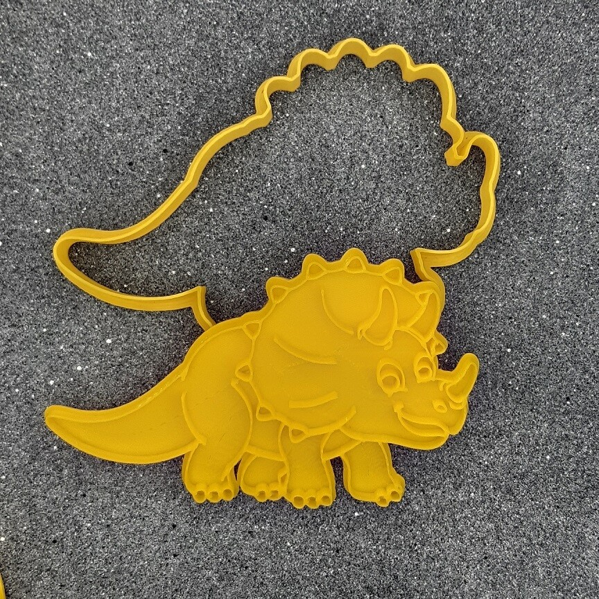 """Форма для пряника """"Динозавр №7"""" (12 х 7,5 см) со штампом"""