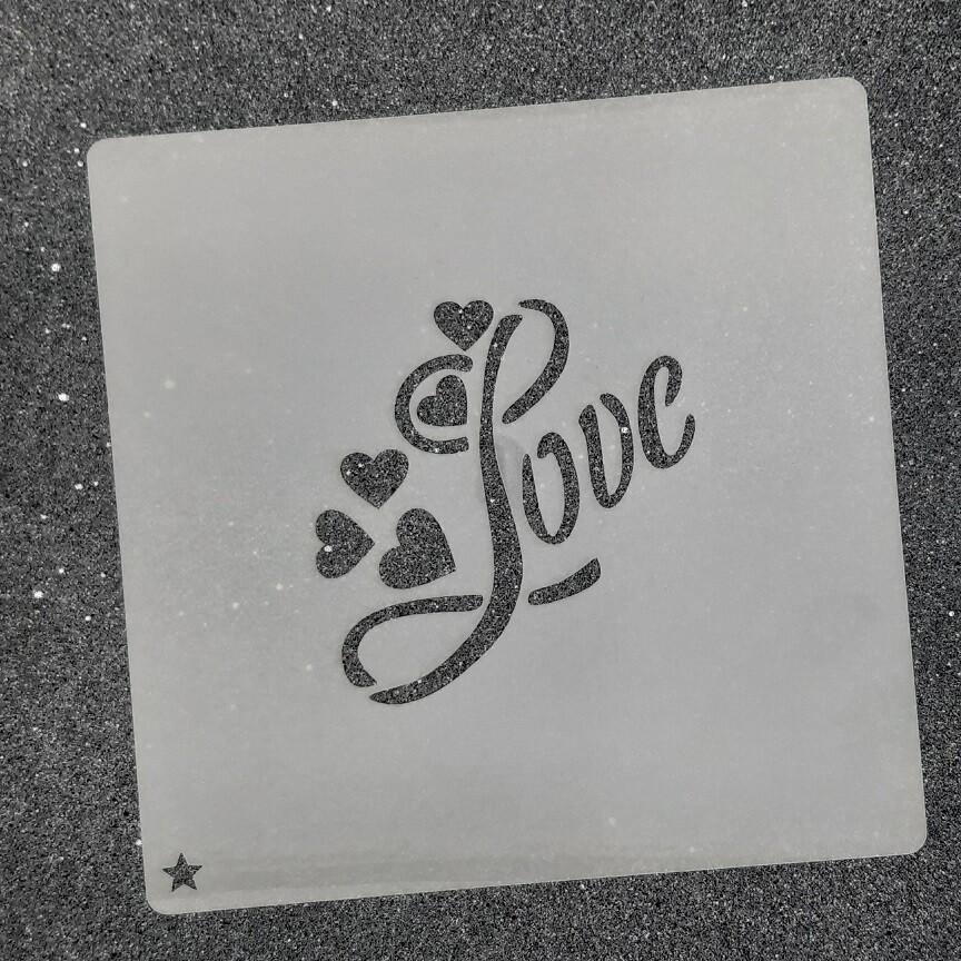 """Трафарет для пряников """"Love №2"""" (7 х 7 см)"""