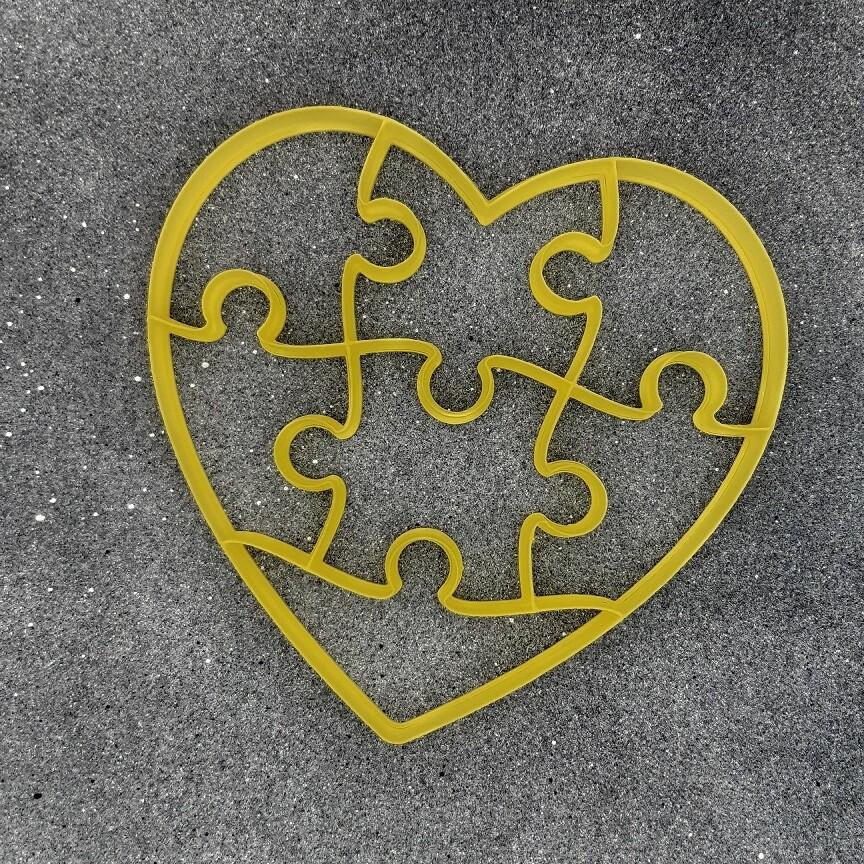 """Форма для пряника """"Сердце-пазл №2"""" (17 х 16,5 см)"""