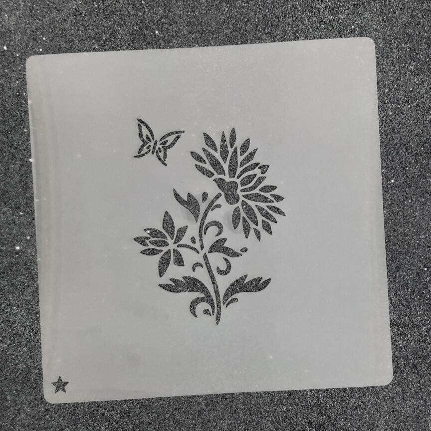 """Трафарет для пряников """"Цветок №2"""" (6 х 8,5 см)"""