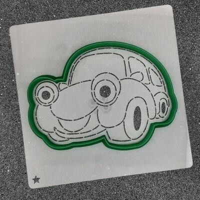 """Форма для пряника """"Машинка №4"""" (12 х 9 см) с трафаретом"""