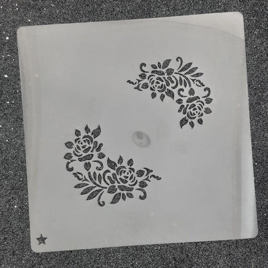 """Трафарет для пряников """"Розы №5"""""""