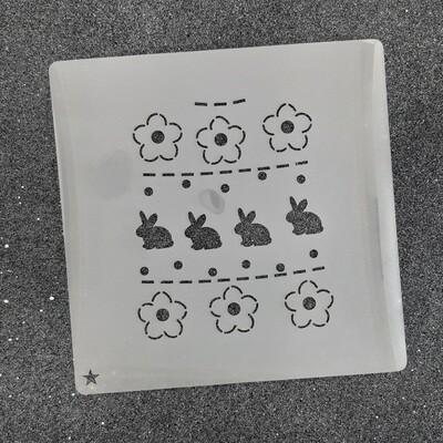 """Трафарет для пряников """"Пасхальный №1"""" (8 х 10 см)"""