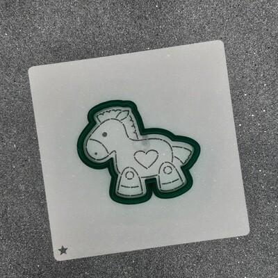 "Форма для пряников ""Лошадка №1"" (8 х 7 см) с трафаретом"