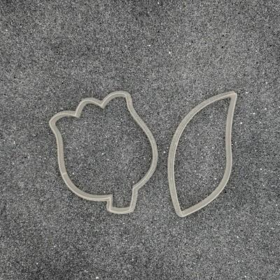 "Форма для пряников ""Тюльпан с листиком №2"" (6,5 х 8 см и 4 х 9 см)"