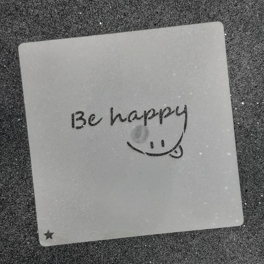 """Трафарет для пряников """"Be Happy №1"""" (8 х 4 см)"""