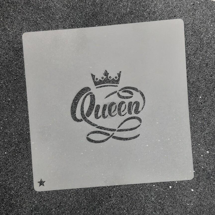 """Трафарет для пряников """"Queen №1"""" (6,5 х 6,5 см)"""
