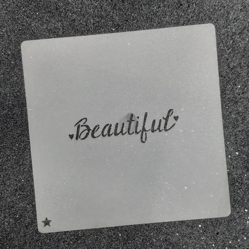 """Трафарет для пряников """"Beautiful №1"""" (8 х 2,2 см)"""