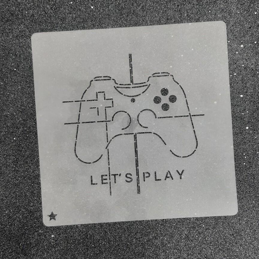 "Трафарет для пряников ""Let's Play №1"" (10 х 10 см)"