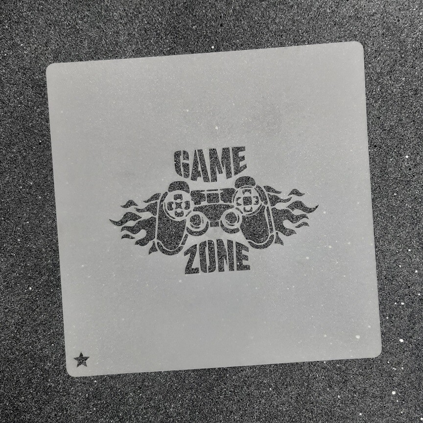 "Трафарет для пряников ""Game Zone"" (9 х 6 см)"