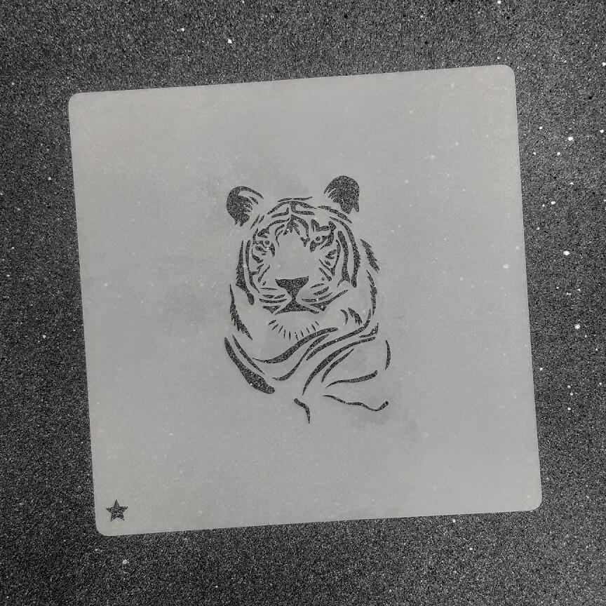 """Трафарет для пряников """"Тигр №2"""" (5,5 х 7,5 см)"""