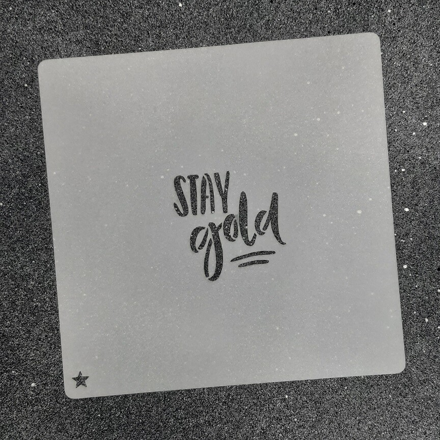 """Трафарет для пряников """"Stay Gold №1"""" (4 х 4 см)"""
