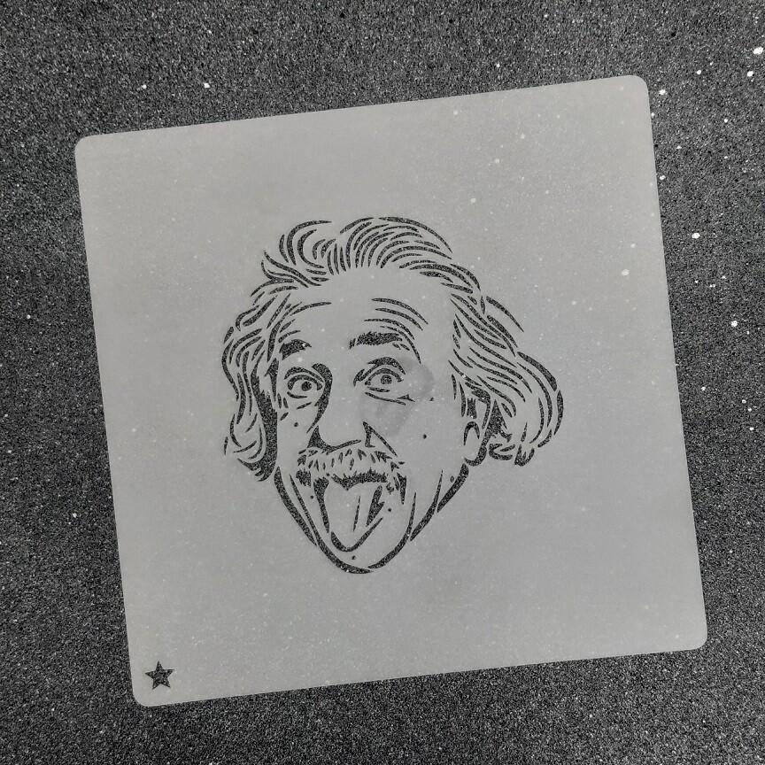 """Трафарет для пряников """"Эйнштейн №1"""" (8,5 х 9 см)"""