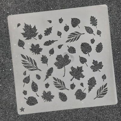 """Трафарет для пряников """" Осенние листья №1@"""