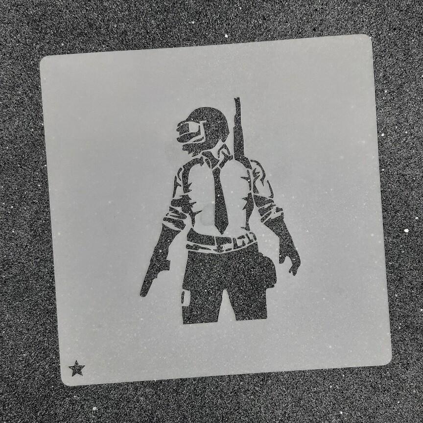 """Трафарет для пряников """"Геймер №2"""" (7 х 9,5 см)"""