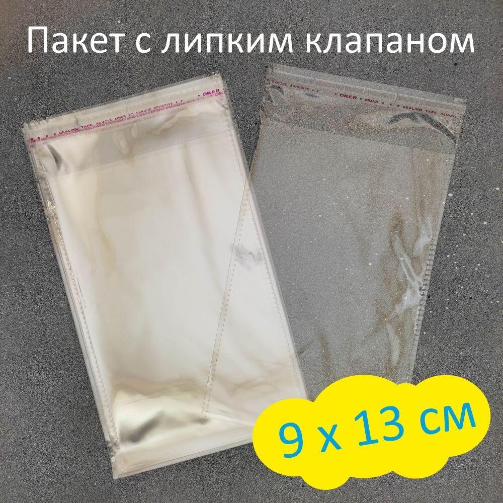Пакет с липким клапаном 9 х 13 см (100 шт)