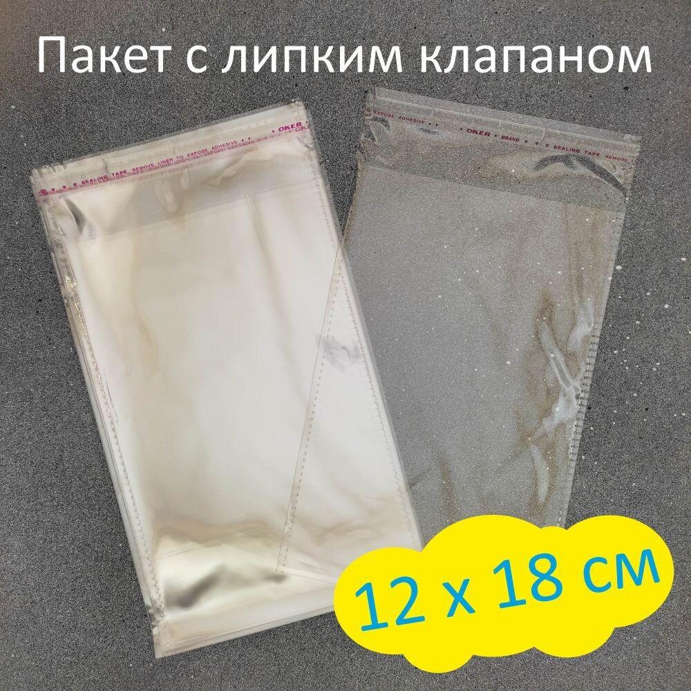 Пакет с липким клапаном 12 х 18 см (100 шт)