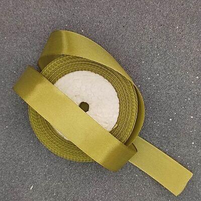 Оливковая атласная лента 25 мм