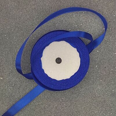 Синяя атласная лента 10 мм