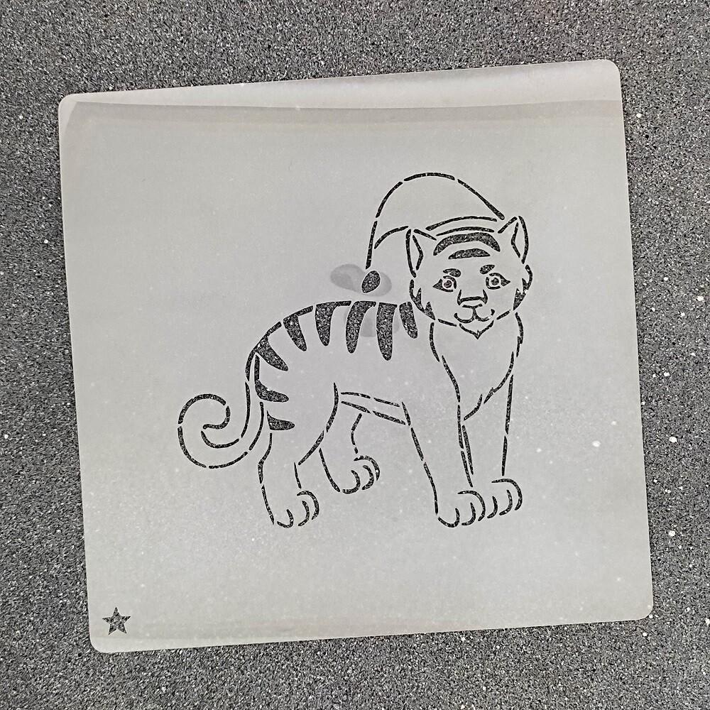 """Трафарет для пряников """"Тигр №5"""" (9 х 9 см)"""