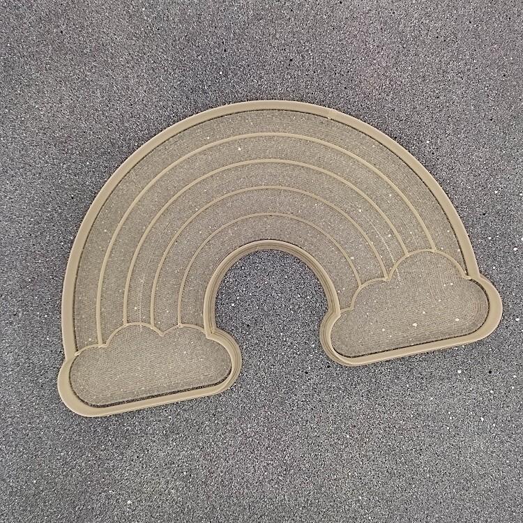 "Форма для пряников ""Радуга №3"" (19 х 12 см) со штампом"