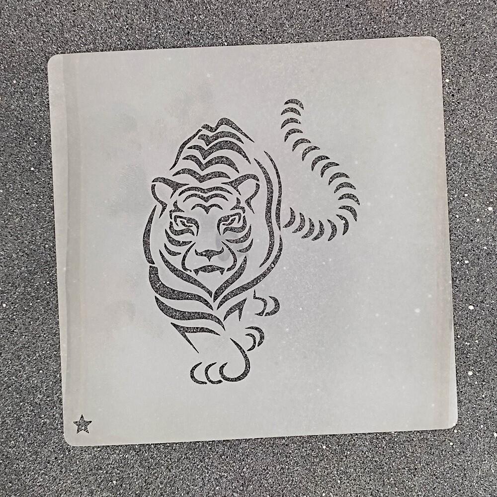 """Трафарет для пряников """"Тигр №4"""" (8 х 10 см)"""