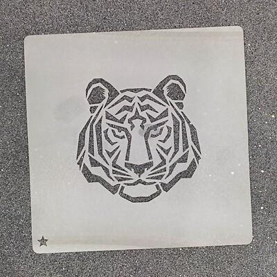 """Трафарет для пряников """"Тигр №3"""" (8 х 8 см)"""
