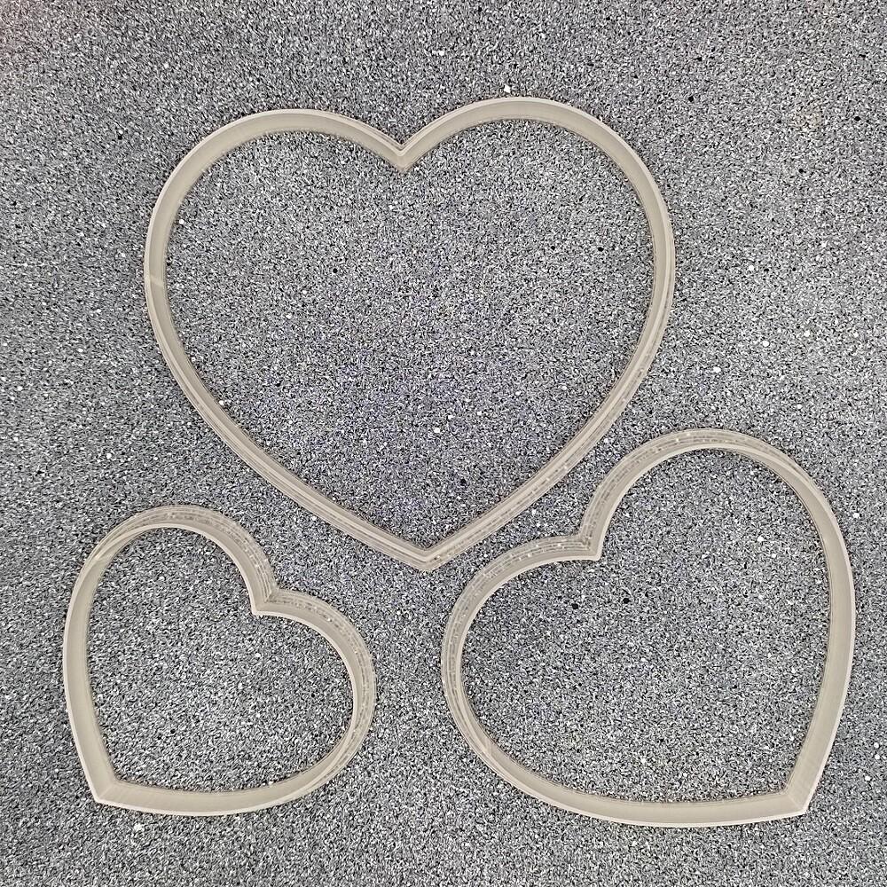 """Набор форм для пряников """"Сердечки №1"""" (6, 8 и 10 см)"""