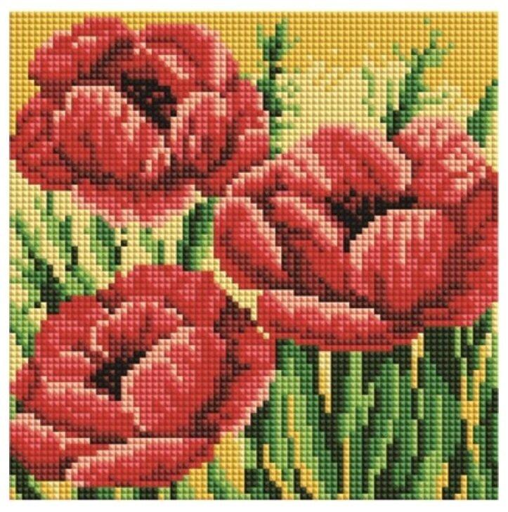 Алмазная мозаика BF 844 Красные маки 20*20